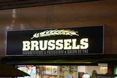 Brussels Sandwicherie signage royalty free stock photos