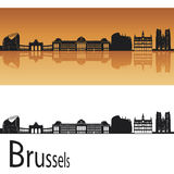 Brussels skyline Royalty Free Stock Photos