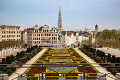 Brussels skyline Belgium Royalty Free Stock Images