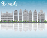 Brussels skyline with Ornate buildings of Grand Place Stock Image