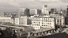 Brussels skyline Royalty Free Stock Image