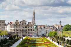 Brussels skyline royalty free stock photo