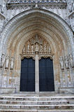 Brussels - South portal of Notre Dame du Sablon Stock Images