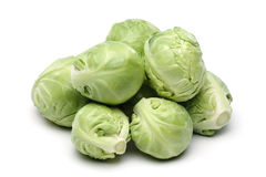 Brussels Sprout. On white background stock photos