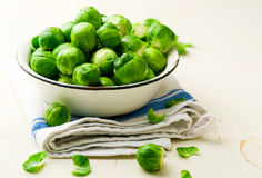 Brussels sprout in a bowl Stock Photos