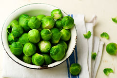 Brussels sprout in a bowl Royalty Free Stock Photos