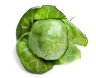 Brussels sprout, isolated on a white background, small depth of sharpness. Brussels sprout, isolated on  white background, small depth of sharpness Royalty Free Stock Image