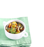 Brussels sprout and lentil soup Royalty Free Stock Photo