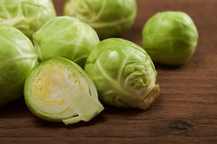 Brussels sprout. On wooden background stock images