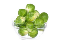 Brussels sprouts. Isolated over white background Royalty Free Stock Image