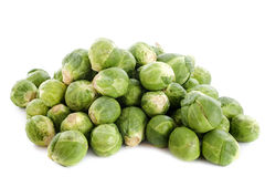 Brussels sprouts. In front of white background Royalty Free Stock Photos