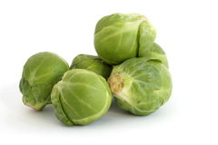 Brussels sprouts. Over white background Stock Photos
