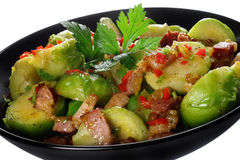 Brussels sprouts with bacon Royalty Free Stock Photography