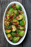 Brussels sprouts with bacon Royalty Free Stock Photo