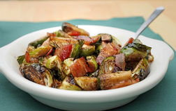 Brussels sprouts with bacon Royalty Free Stock Image