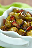 Brussels sprouts with bacon Royalty Free Stock Images