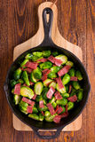 Brussels Sprouts and Bacon Stock Photography