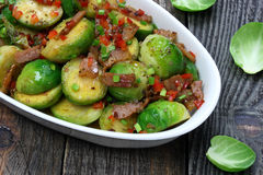 Brussels sprouts with bacon Royalty Free Stock Photos