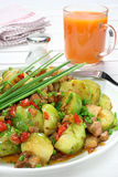 Brussels sprouts with bacon Stock Images