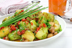 Brussels sprouts with bacon Stock Photography
