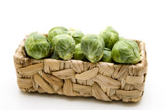 Brussels sprouts in the basket Royalty Free Stock Photography