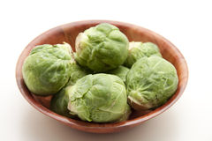 Brussels sprouts in the bowl Royalty Free Stock Photos