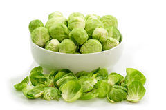 Brussels sprouts in a bowl Royalty Free Stock Photo