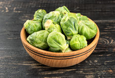 Brussels sprouts in bowl Stock Images