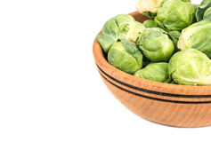 Brussels sprouts in bowl Royalty Free Stock Photo