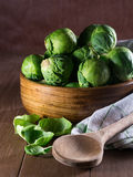 Brussels sprouts in a bowl Stock Images