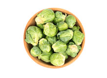 Brussels sprouts in bowl Royalty Free Stock Image