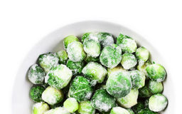 Brussels sprouts cabbage isolated on white background. Stock Photo