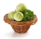 Brussels sprouts cabbage isolated on white Stock Image