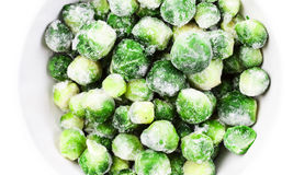 Brussels sprouts cabbage isolated on white background. Stock Photos