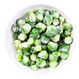 Brussels sprouts cabbage isolated on white background. Stock Image