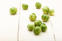 Brussels sprouts closeup Stock Photos
