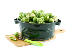 Brussels sprouts in a container Stock Photography