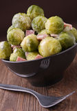 Brussels sprouts and cream Royalty Free Stock Photos