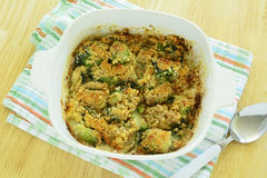 Brussels sprouts gratin Stock Photo