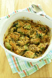Brussels sprouts gratin Stock Photography