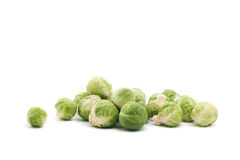 Brussels sprouts isolated on white Stock Photography