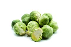Brussels sprouts isolated on white background royalty free stock photo