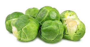 Brussels sprouts isolated on white. Background Royalty Free Stock Photography