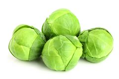 Brussels sprouts isolated on white background closeup Stock Image