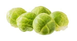 Brussels Sprouts Isolated on White Background. Fresh Brussels Sprouts Isolated on White Background Stock Photos