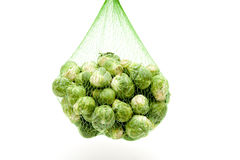Brussels sprouts in the net Stock Photo
