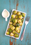 Brussels sprouts with nuts Royalty Free Stock Photos