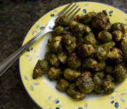 Brussels Sprouts. Roasted brussels sprouts in a bowl Royalty Free Stock Photo