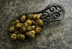 Brussels Sprouts. Roasted brussels sprouts in a bowl Stock Photo