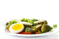 Brussels sprouts salad with eggs Stock Image